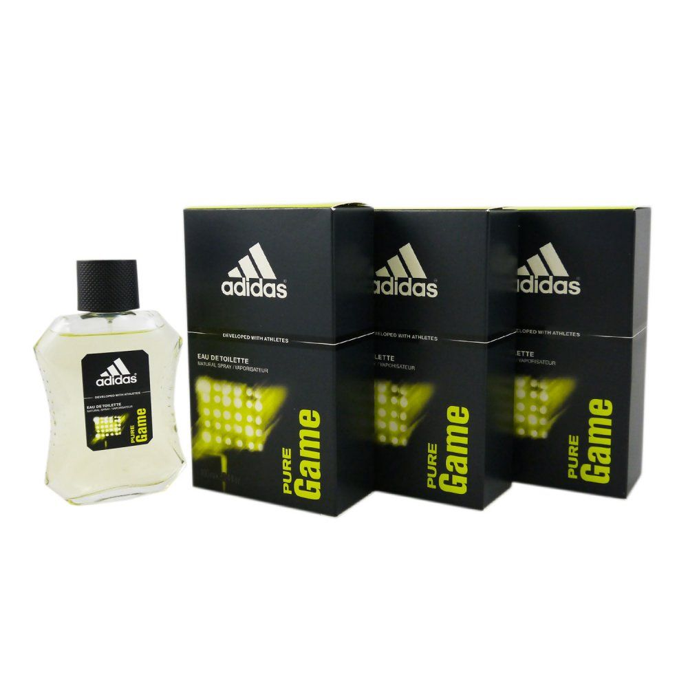 best website bf63e f881a Adidas Pure Game 3 x 100 ml Eau de Toilette EDT Set ...