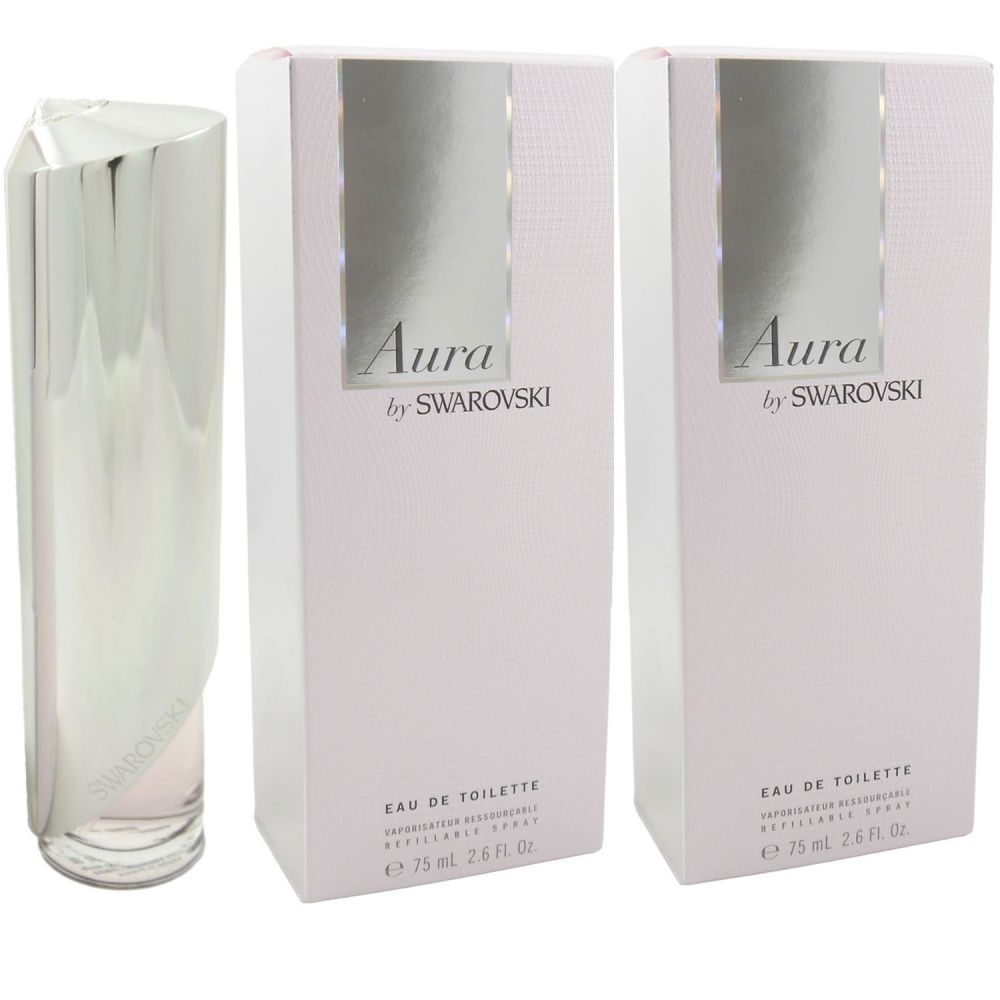 Aura by Swarovski 2 x 75 ml Eau de Toilette EDT nachfüllbar refillable