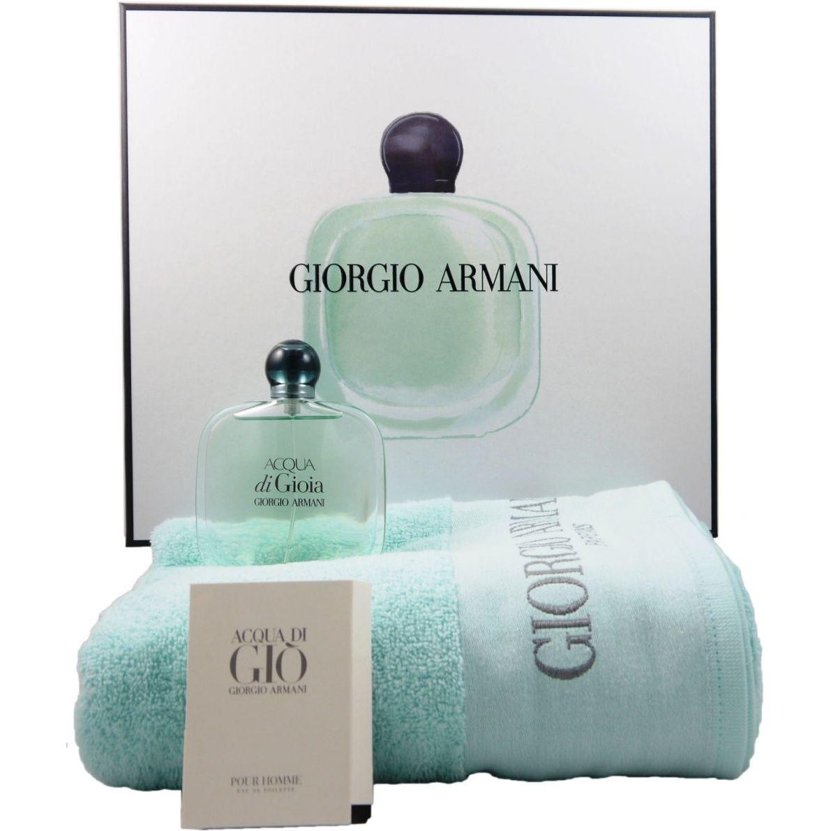 Giorgio Armani Acqua Di Gioia Set 100 Ml Eau De Parfum Handtuch