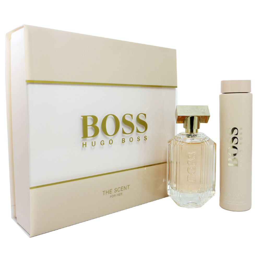 hot new products the best best quality Hugo Boss The Scent for Her Set 100 ml Eau de Parfum EDP & 200 ml Bodylotion