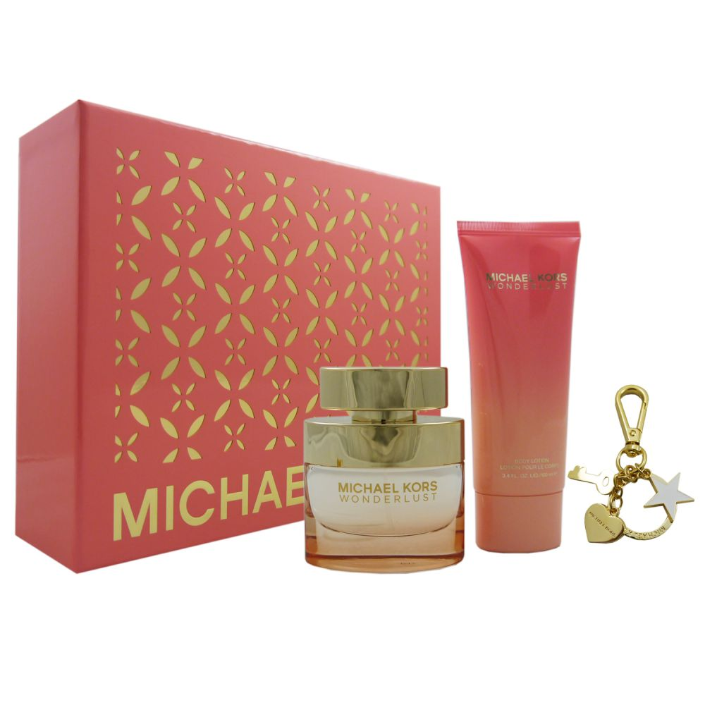 Michael Kors Wonderlust Set 50 ml Eau de Parfum EDP & 100 ml BL & Key Chain