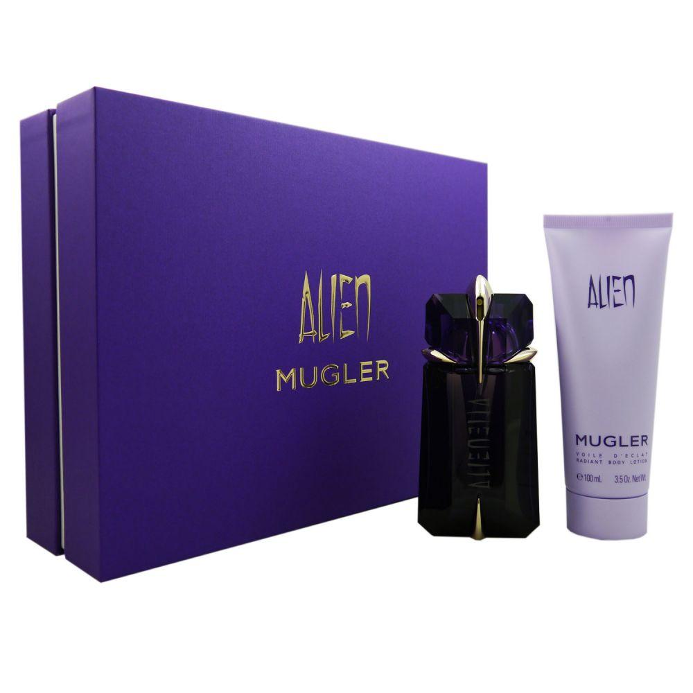 dd0d848c5b2a96 Thierry Mugler Alien Set 60 ml Eau de Parfum EDP Refillable & 100 ml  Bodylotion ...